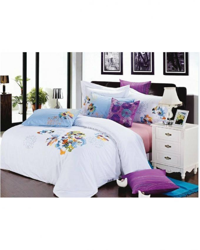 Single Bed Embroidery Set - 4Pcs