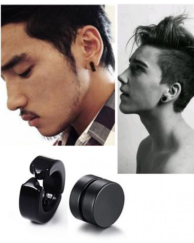 Pack 02 Black Clip Punk Magnetic Earrings Men Online Best Prices In Stan Daraz Pk