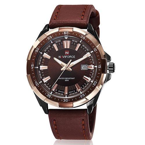 Men 30M Waterproof Quartz Chronograph Watch - Brown & Black & Brown