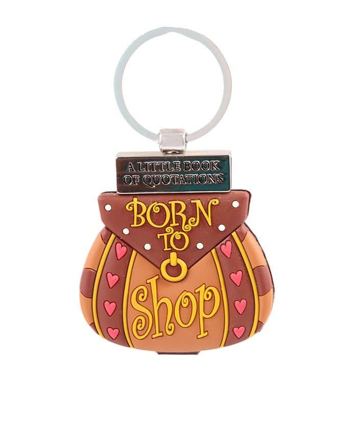 A Little Book Of Quotations: Born To Shop Keychain - Multicolor