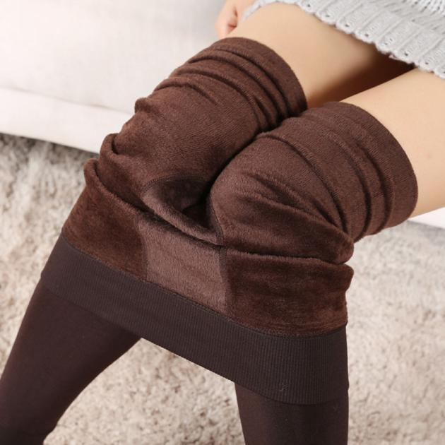 52fd376fa1c1d5 Women Winter Thick Warm Fleece Lined Thermal Stretchy Leggings Pants CO