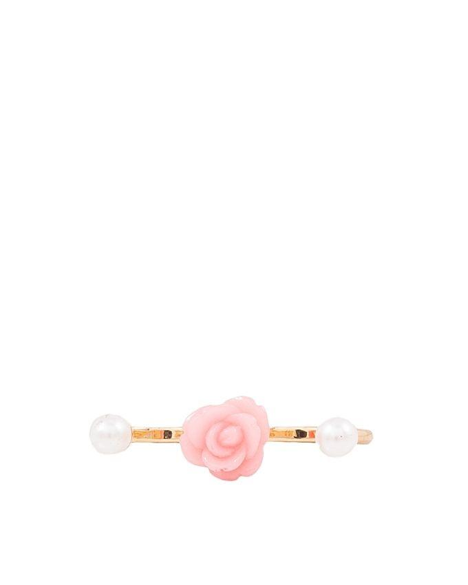 Coral & Pearl - Twin Finger Ring