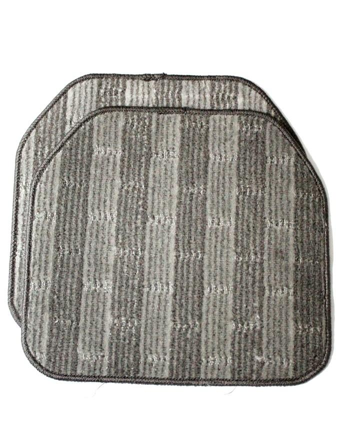 Universal Carpet Mat For Cars - 5 Pcs - Grey & Black