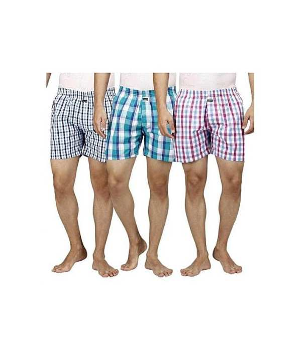 Pack Of 3 - Checkered Men Boxer