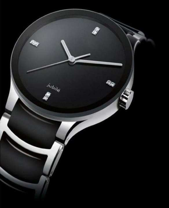Black Metal Strap Watch for Men