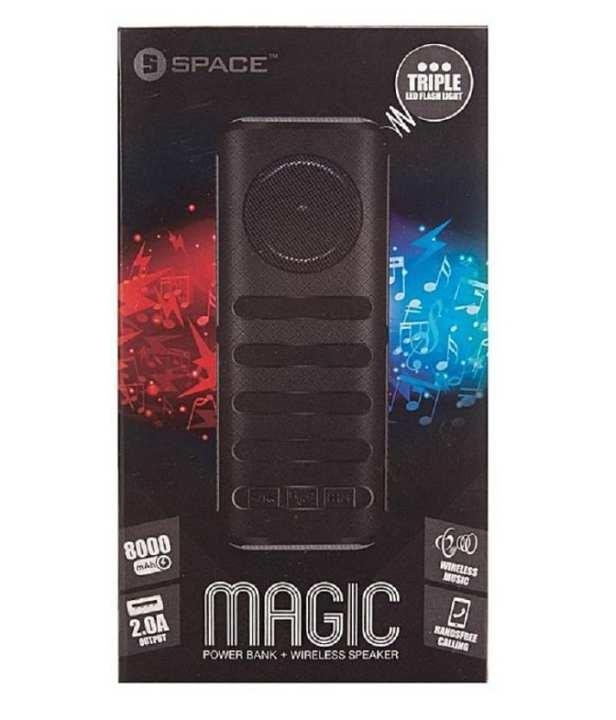 Magic Power Bank 8000mAh Wireless Speaker with LED Flash Light