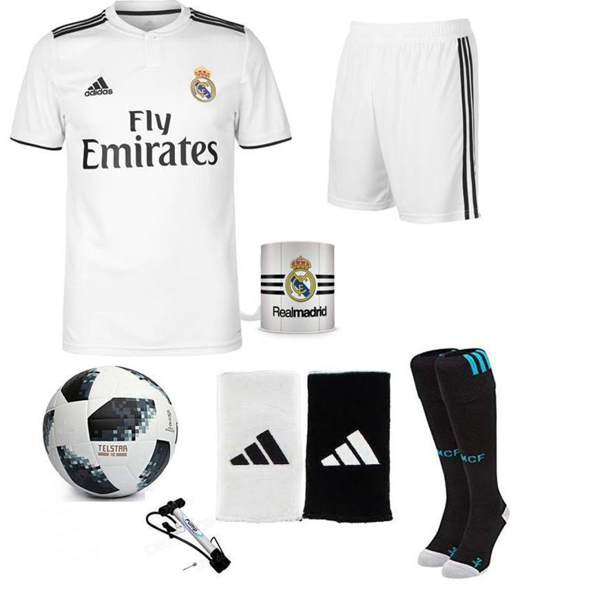 4e96b76ed Pack Of 7 Real Madrid Home Kit With Accessories Xl