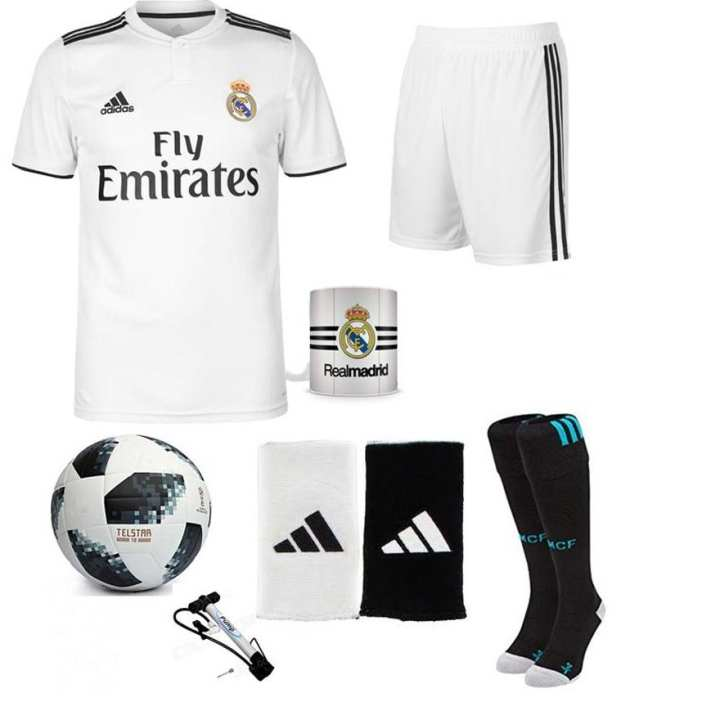 Pack Of 7 Real Madrid Home Kit With Accessories Xl