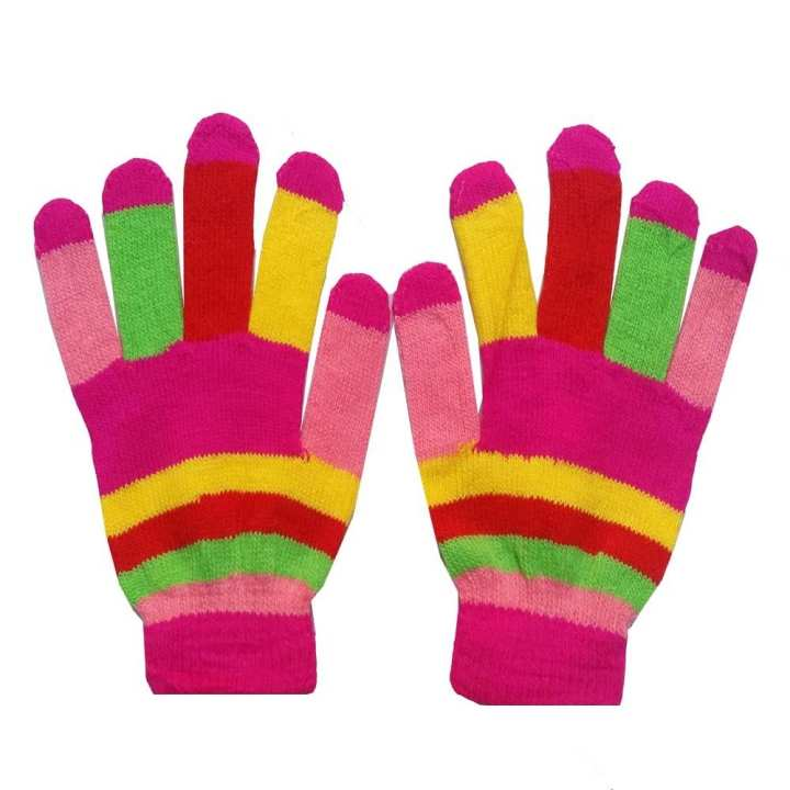 Hi Charlie Wool Winter Gloves for Women-Multicolor