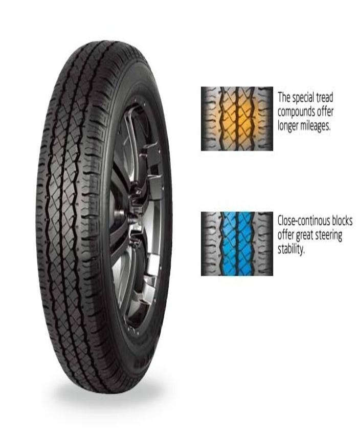 Tracmax 155/R12C tubeless tyre