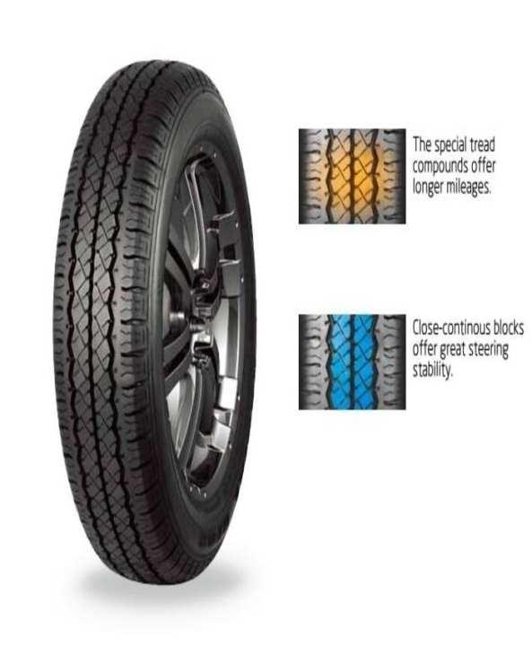 Tracmax 155/R12C tubeless tyre