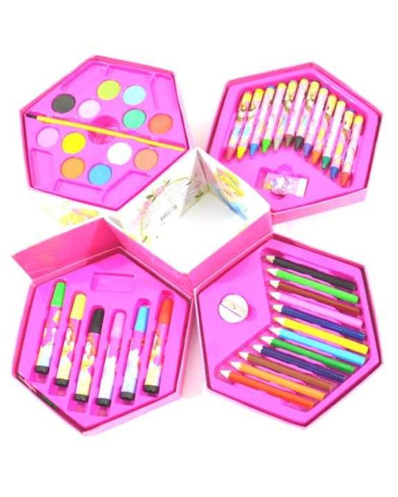Coloring Box Toy Set - Pink