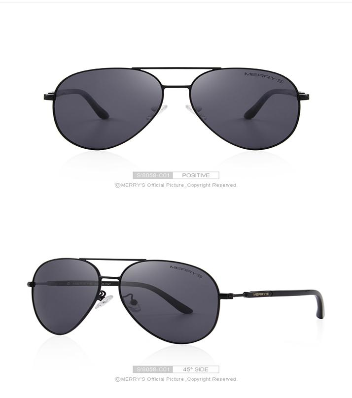 37b17a75af Merry s Classic Pilot Polarized Sunglasses 100% Uv Protection