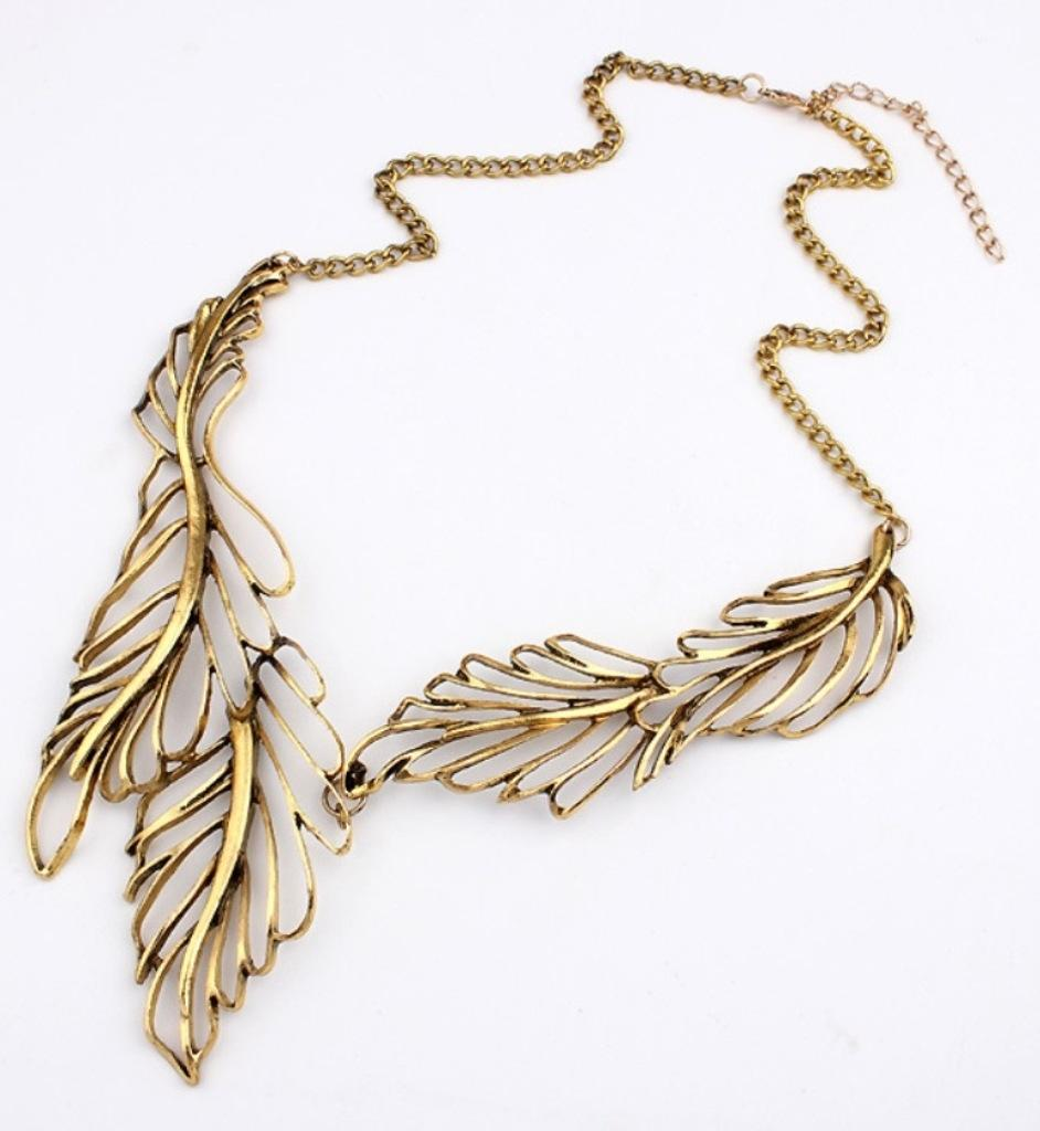 NéonKrallık Forest Nymph Collar Necklace (Gold)