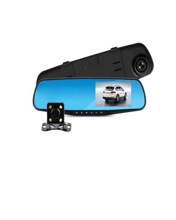 Android Car System GPS Navigation Rearview Mirror DVR Dual Lens 1080P with G-sensor Motion