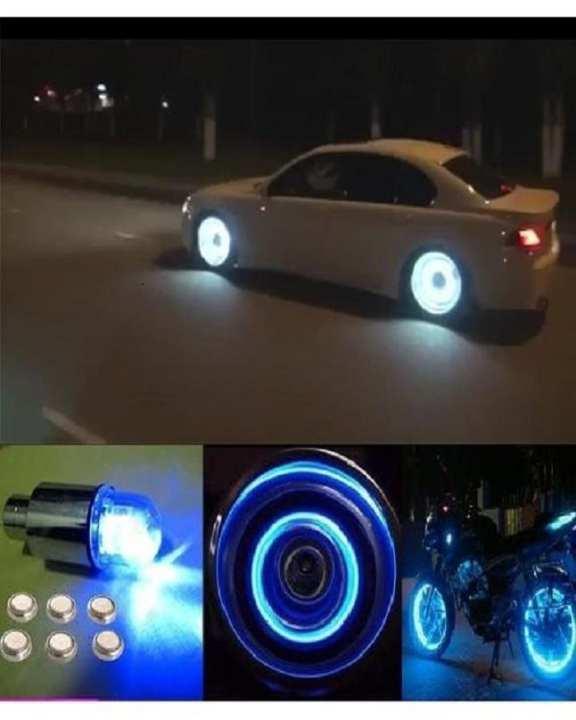 Cycle Bike Car Tyre Valve Cap Wheel Spokes LED Light