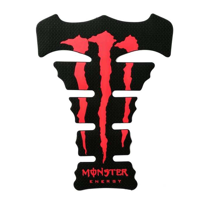 Monster Energy Rubber Tank Pad - Red