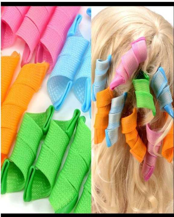 Pack of 18 - Magic Leverage Hair Curlers & Rollers Soft Foam Anion Bendy Magic Hair Curler Roller Magic Circle Hair Styling Rollers Curlers Leverag
