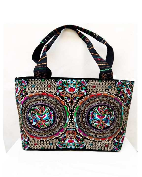 New China Embroidery - Velvet Hand Bag For Women