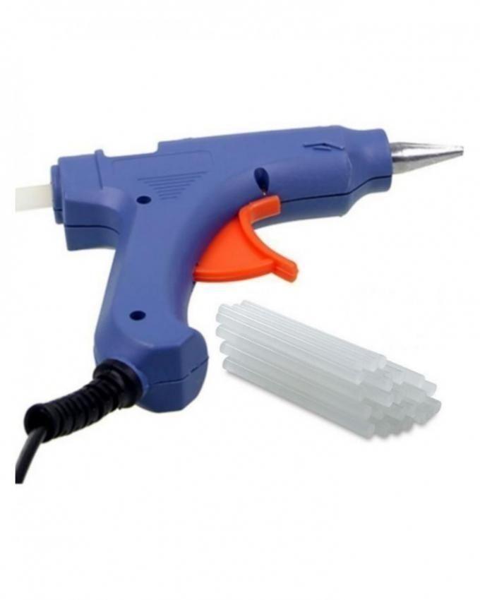 Blue Glue Gun with 12 Glue Sticks - Large