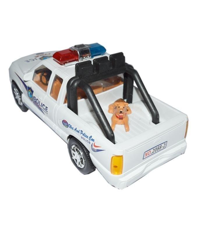 Police Radar Car with Dog - White