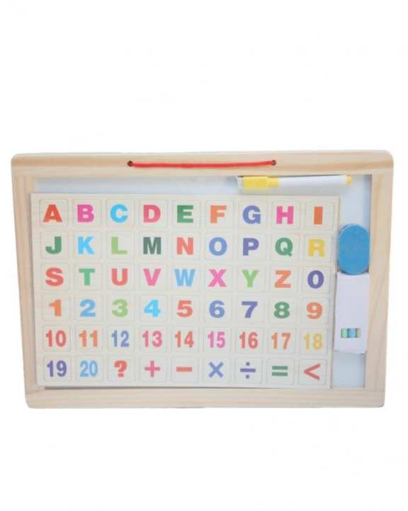 Magnetic Board With Alphabets - Multicolor