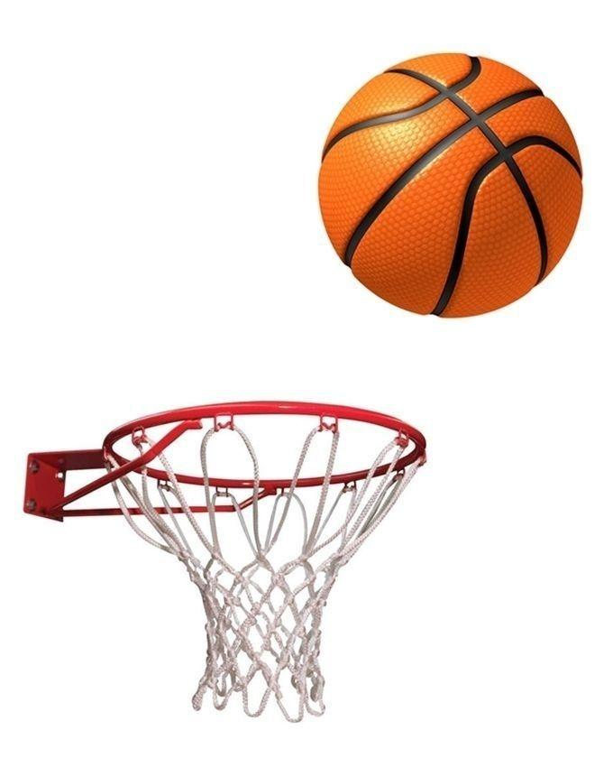 Basket Ball With Net and Ring - Standard Size