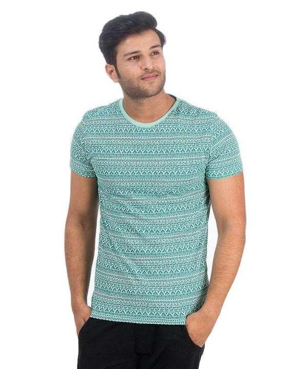 Light Green Jersey Tshirt For Men - Ttc-005