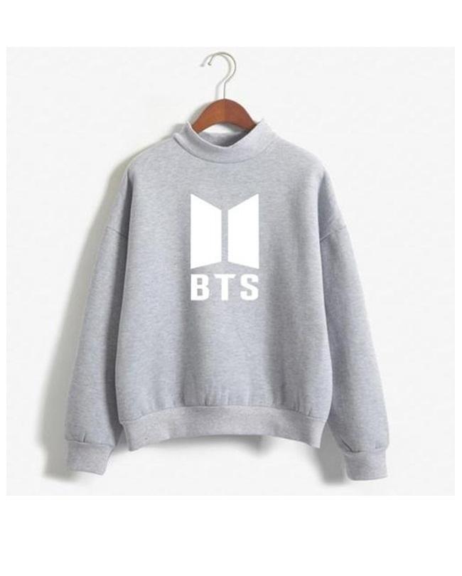 ABBY Grey Fleece BTS Sweatshirt For Unisex
