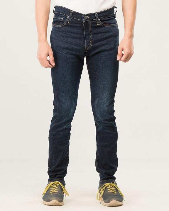 Riviera Blue Denim 5 Pocket Super Skinny Jeans for Men