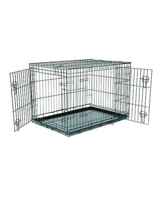 Metal Cage With Metal Tray For Dog - Training Carrier
