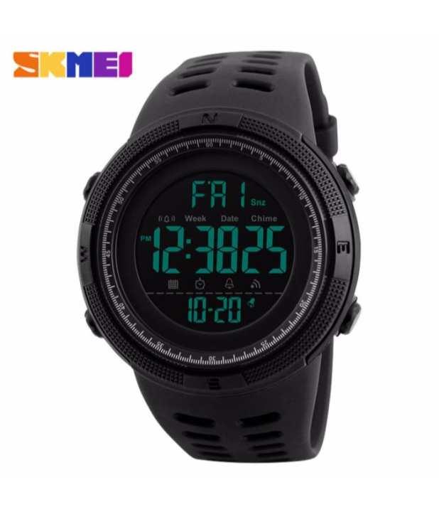 SKMEI 1251- Digital Waterproof Sports Watch - Black - for Men