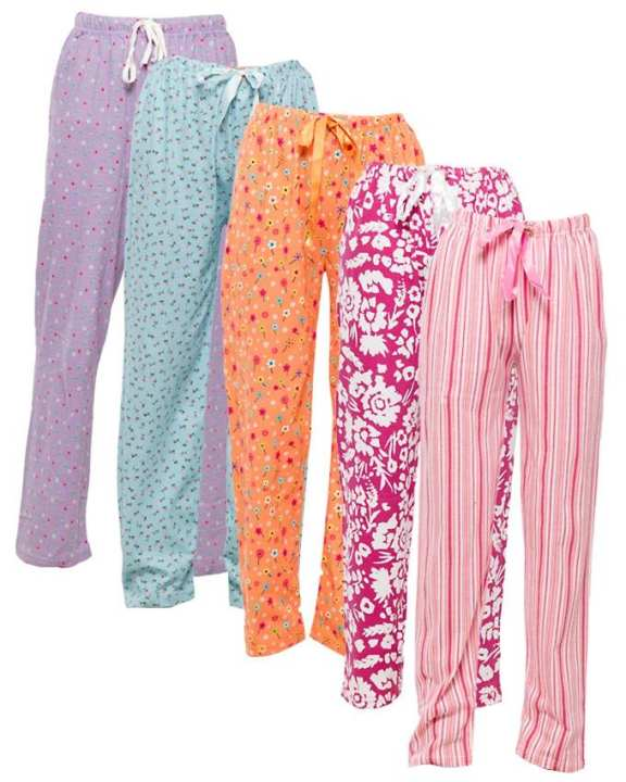 Pack of 5 Printed Pajamas for Women