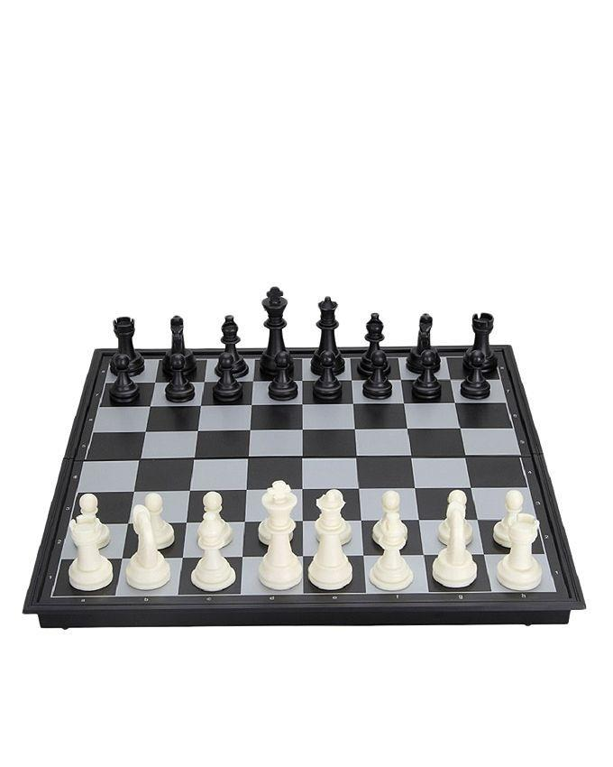 Wooden Chess Game - Black & White