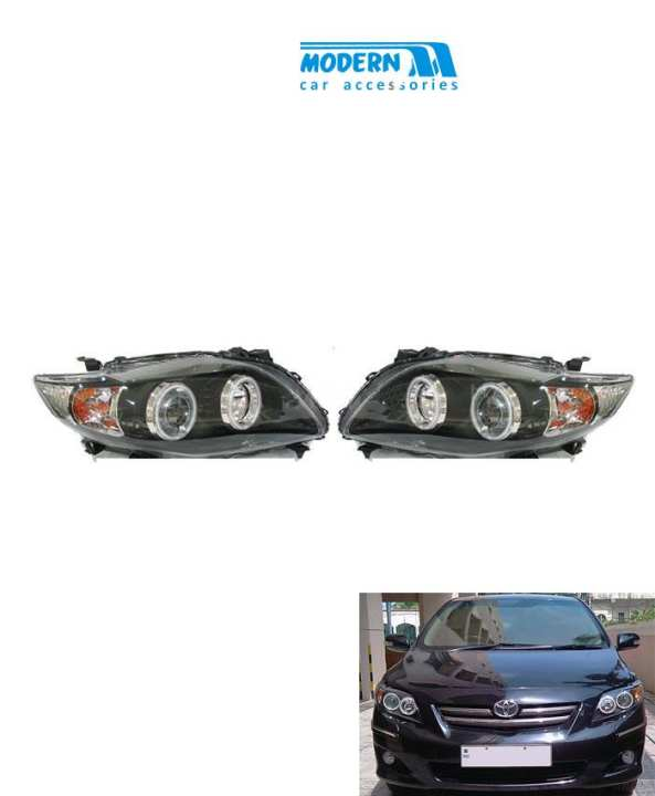 Toyota Corolla V4 Headlight - Model 2008-2012