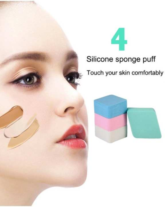 Pack of 4 Flat Makeup Blender Comestic Sponge Puff