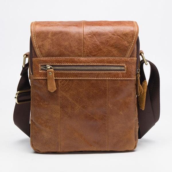 260dbcd5f2 Retro casual men s first layer cowhide flip messenger bag leather men s bag   Buy Online at Best Prices in Pakistan