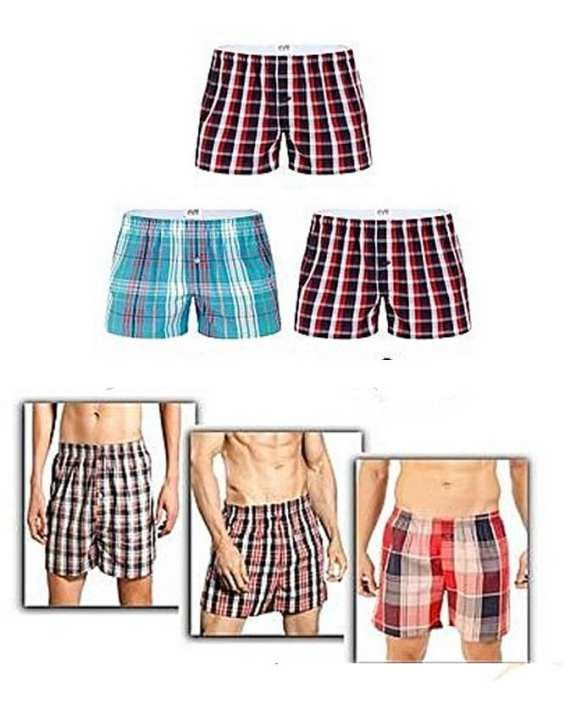 Pack Of 6 - Multicolored Yarn Dyed Checkered Boxer Shorts For Men