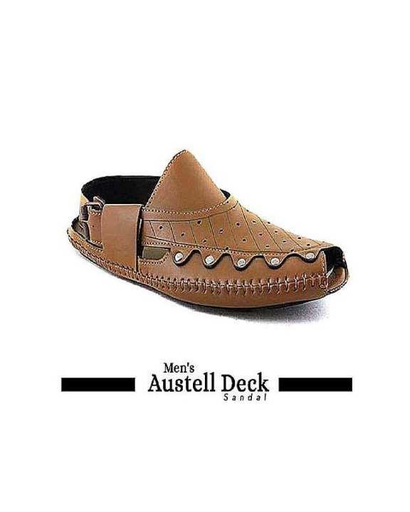 Men Camel Brown Austell Deck Sandal Design 1