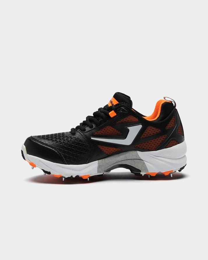 3e59c8915260 Cricket Metal Spike Shoes for Men - 117 Black & Orange