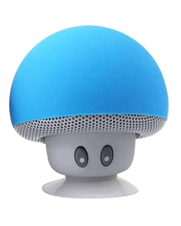 Wireless Bluetooth Mushroom Design Mini Speaker - Blue & Grey