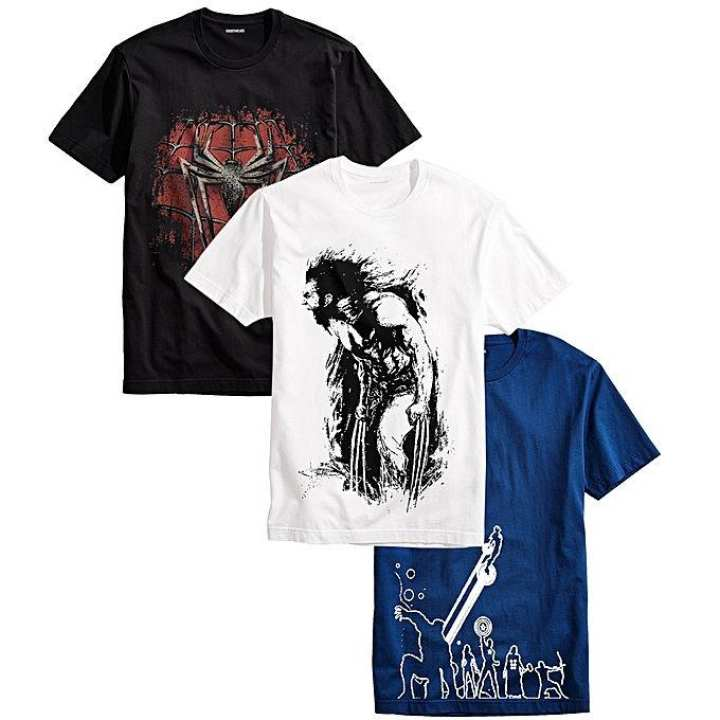 Pack of 3 - Multicolor Cotton Superheros Printed T-Shirt For Men