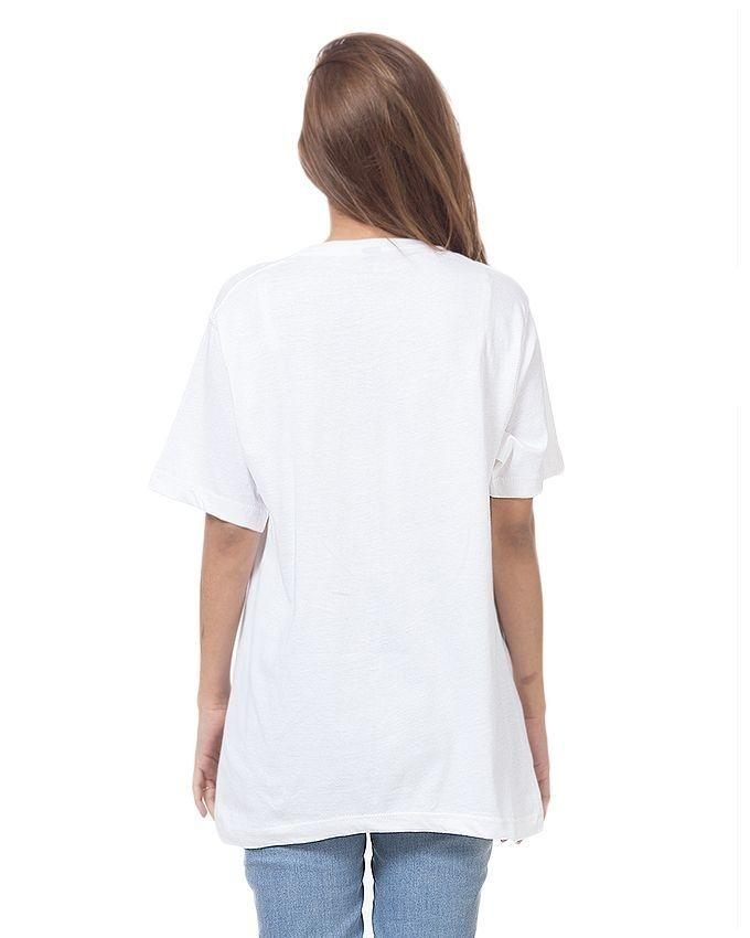 White Cotton Printed T-Shirt for Women