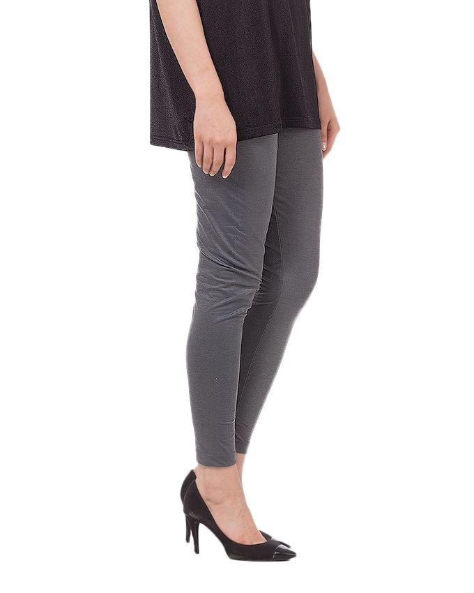 Grey Cotton Tights For Women