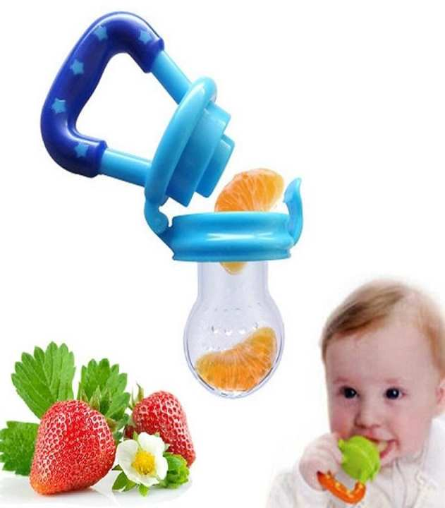 Baby Food Fruit Niple / Feeding Pacifier - Blue - Medium
