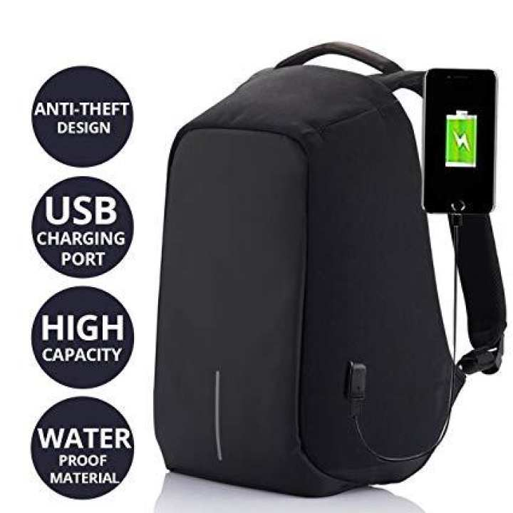 Waterproof Anti Theft Laptop Backpack Usb Charging Port Business Scan Smart