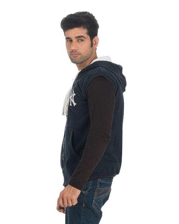 Pack of 2 Navy Blue & Grey Cotton & Fleece Zipper Hoodie for Men