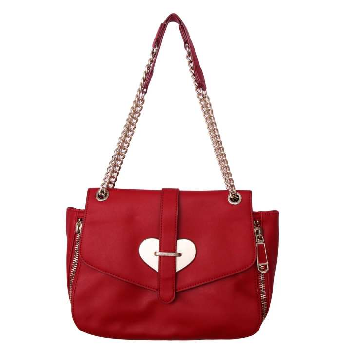 Red Leather Love Moschino Ladies Fashion Bags