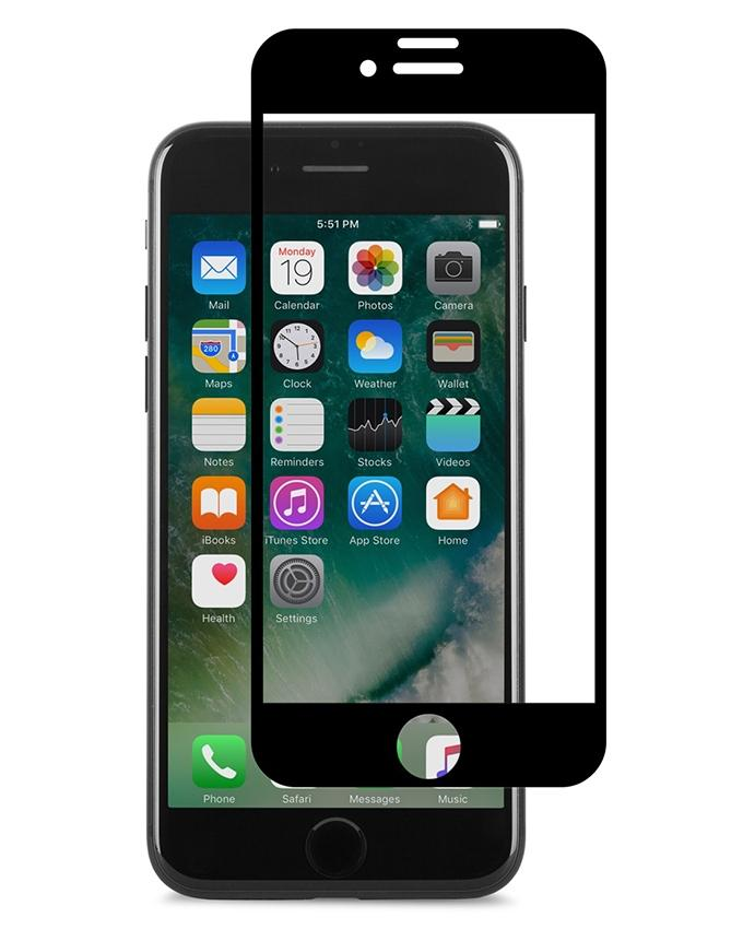Ion Glass Screen Protector For iPhone 7 Plus - Black