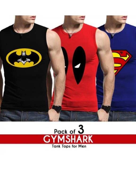 Pack of 3 Gymshark Tank Tops for Men